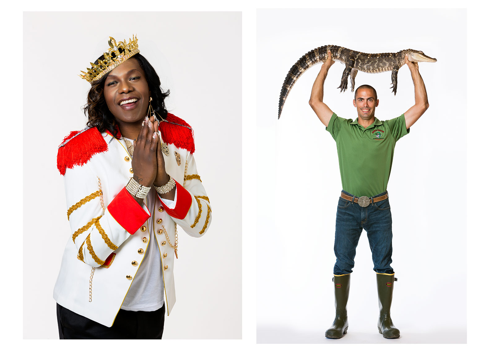 Big Freedia (L) and Sgt. Royce McMullen (R)