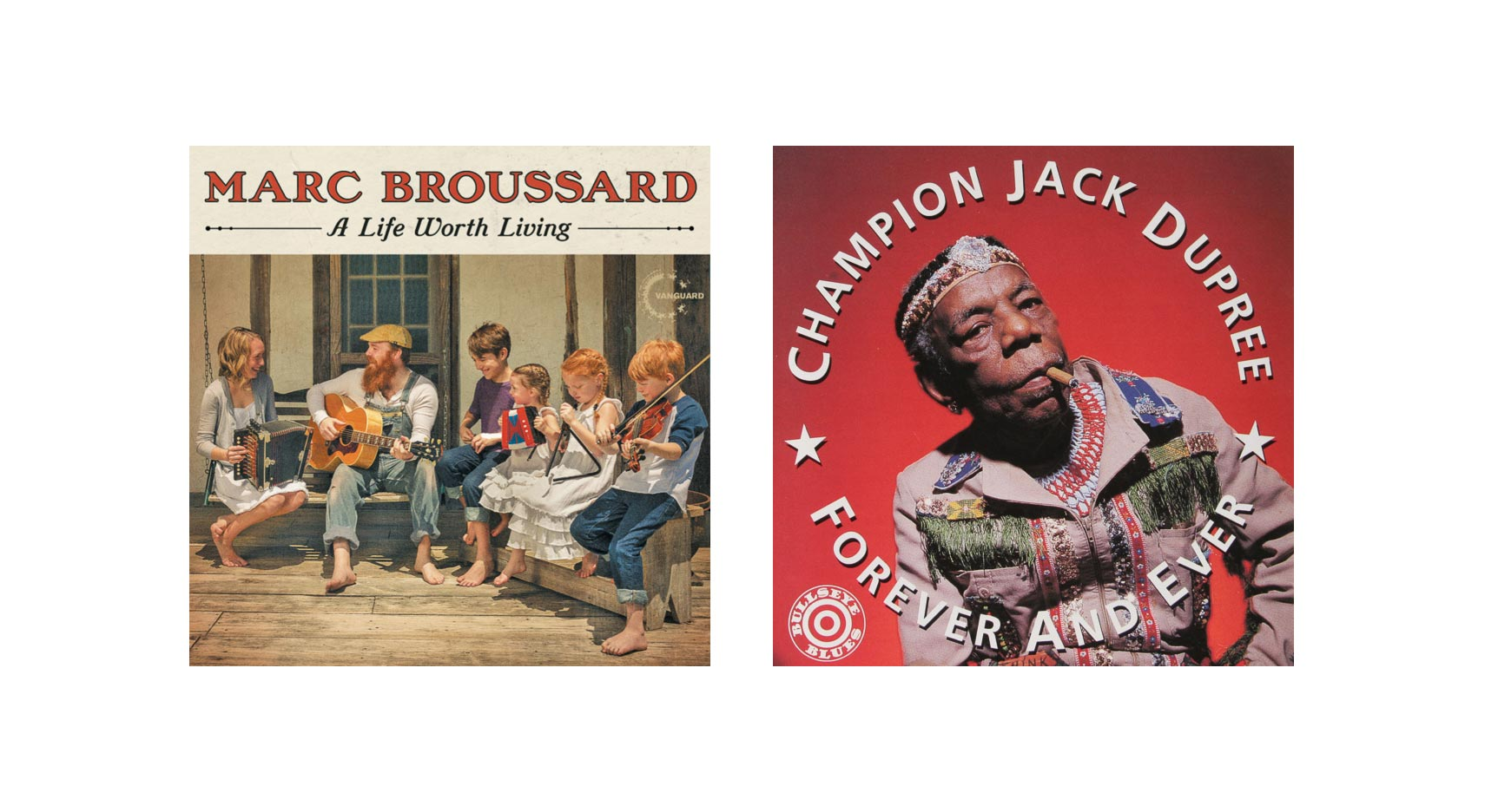 Marc Broussard cd cover, Champion Jack Dupree cd cover