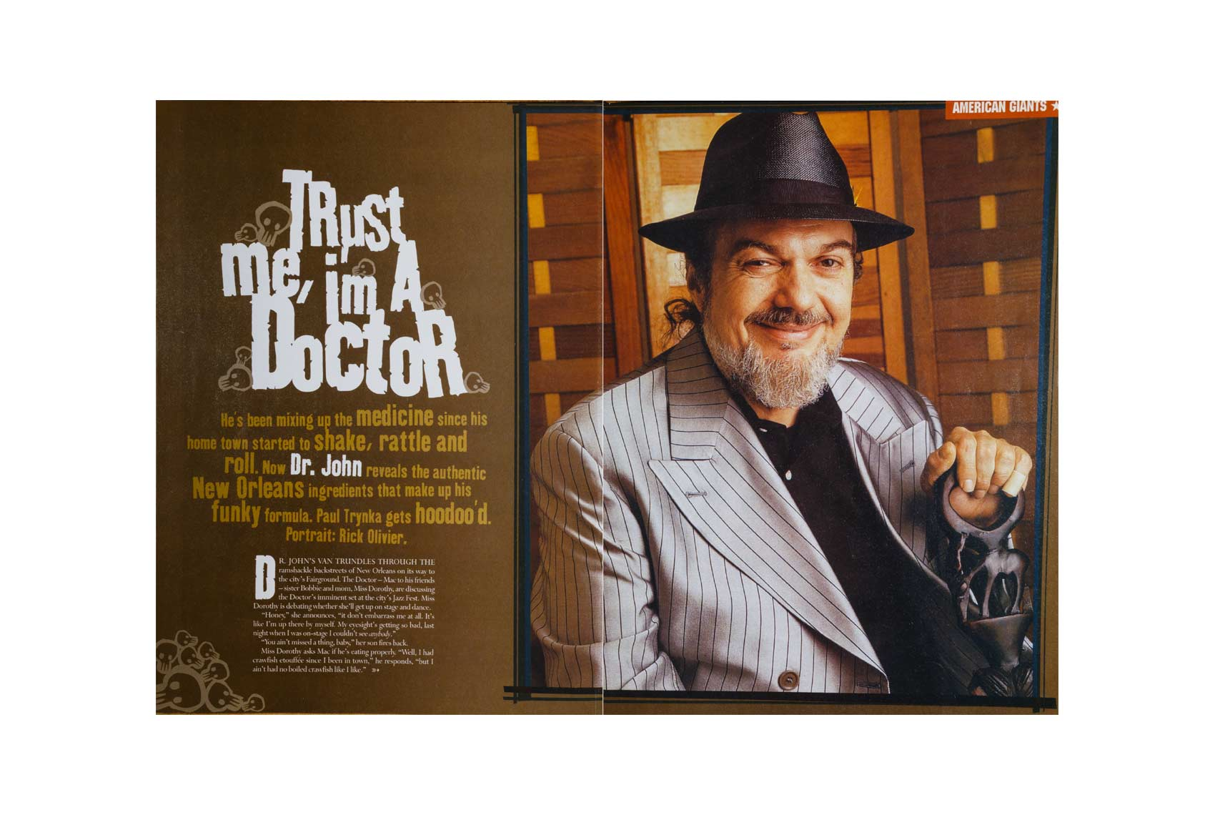 Mojo Magazine cover of Dr.John