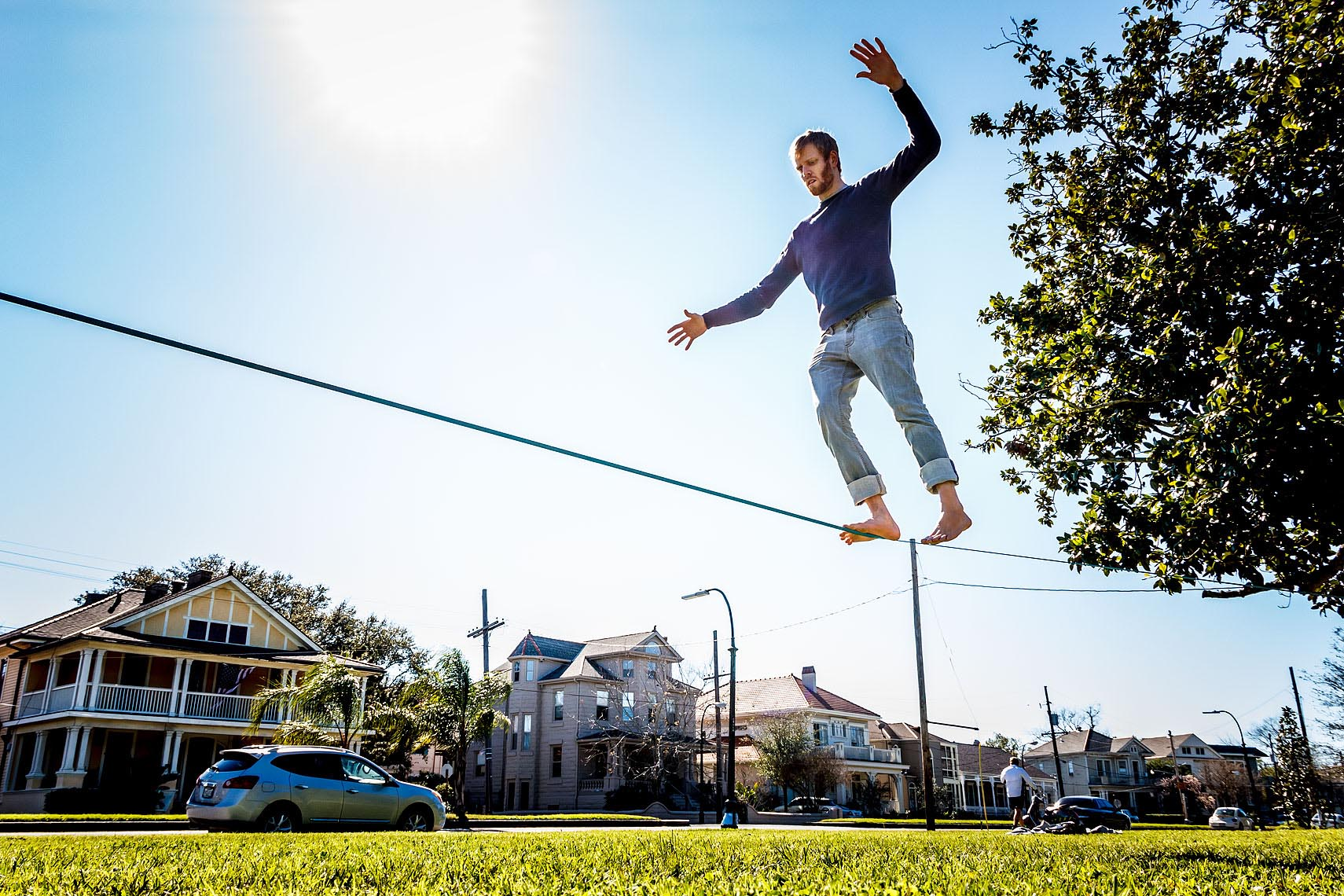 Slackline Walker, City Park, New Orleans, LA