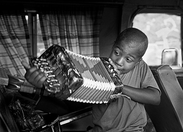 Boy Playing Accordion