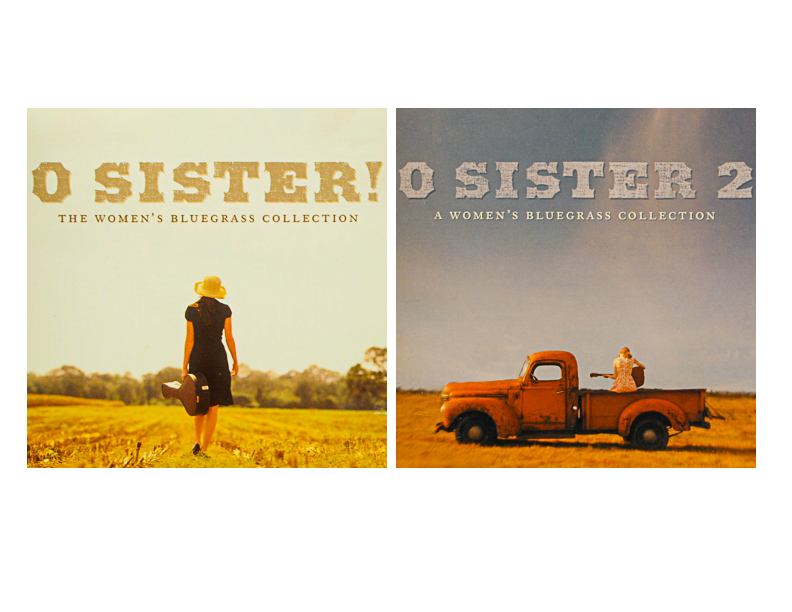 Oh Sister & Oh Sister II cd covers for Rounder Records by Rick Olivier