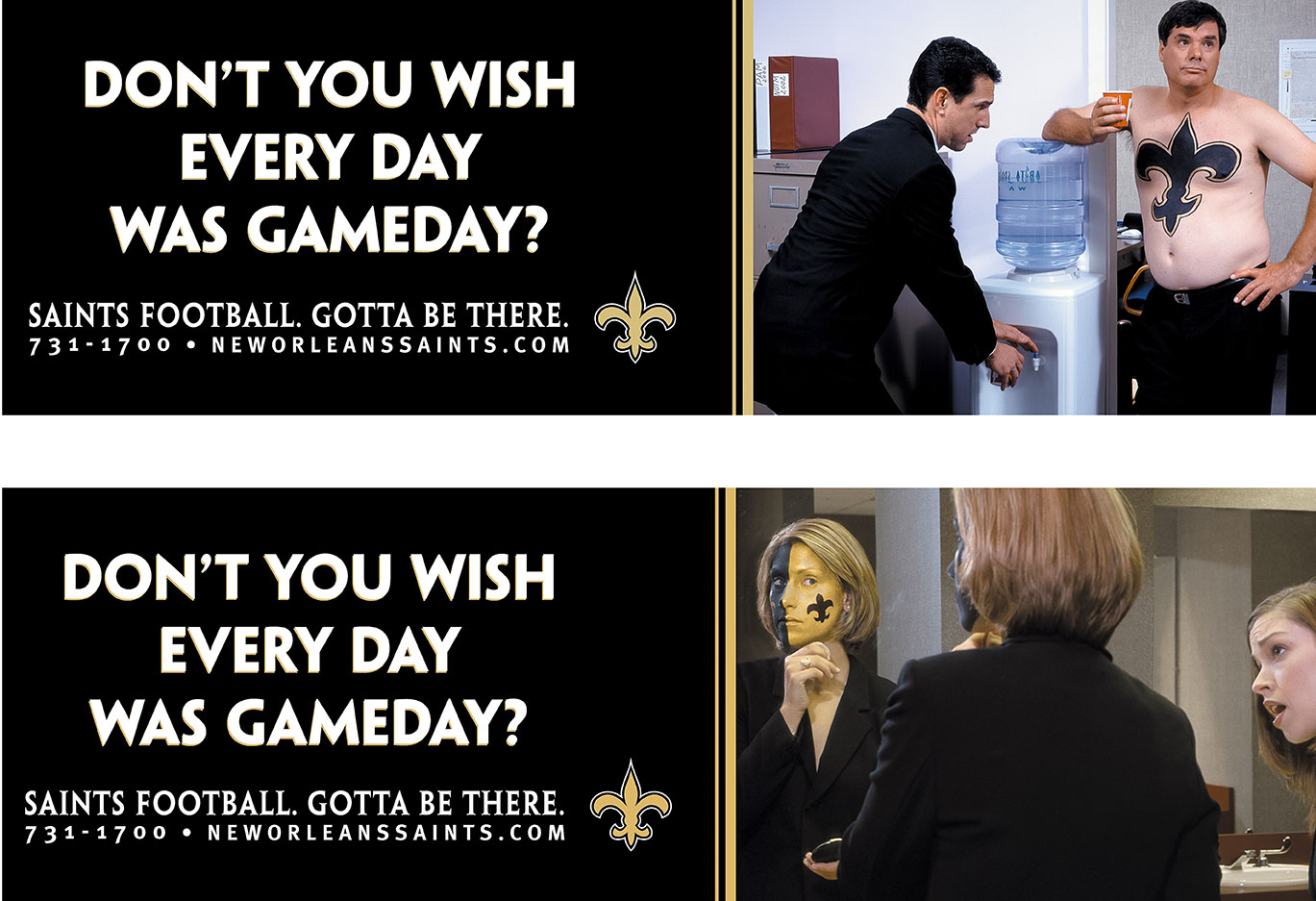 Saints Ads for Peter Mayer